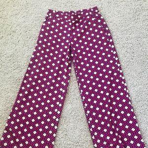 Wide leg geometric print pants size S